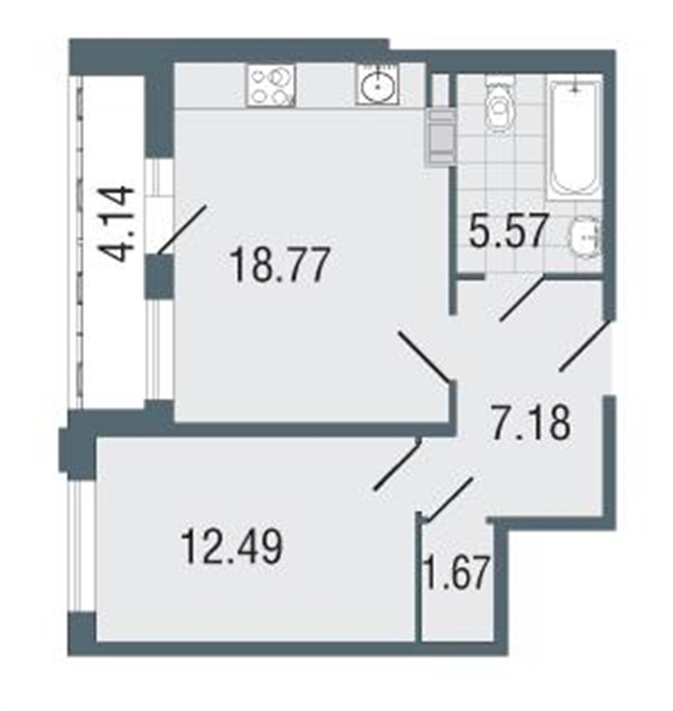 Продажа: 1 комнатная квартира , заозерная ул., 3, л. а.